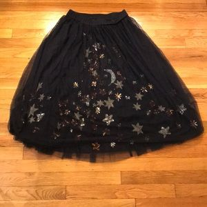Moon and stars! Tulle party skirt! ANTHRO